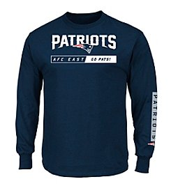 Majestic® NFL® New England Patriots Men's Primary Rec Long Sleeve Tee