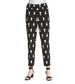 Nine West® Printed Slim Pants