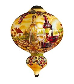 Ne'Qwa Art® Tuscan Vineyard by Dona Gelsinger Marquis-Shaped Glass Ornament