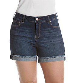 Celebrity Pink Plus Size Flip Fray Shorts
