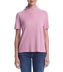 Kensie® Ribbed Knit Tee