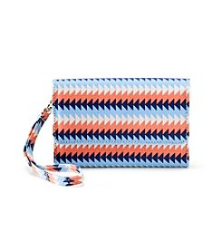 Relativity® Chevron Stripe Midi Cell Wristlet