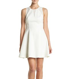 Guess Mesh Fit And Flare Dress