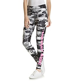 Betsey Johnson Performance® Floral Print Legging Logo