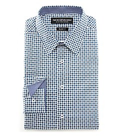 Nick Graham® Men's Fitted Diamond Print Dress Shirt