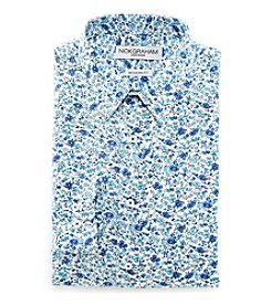 Nick Graham® Men's Fitted Floral Print Dress Shirt