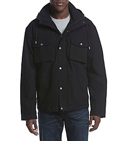 Ruff Hewn Workwear Men's Canvas Hooded Jacket