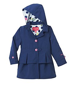 London Fog® Girls' 4-6X Button-Up Peacoat