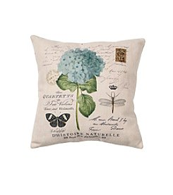 LivingQuarters English Garden Flower Pillow