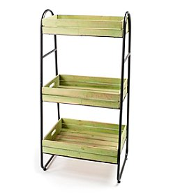LivingQuarters English Garden Three Tier Bakers Rack