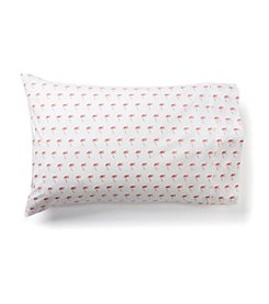 LivingQuarters Flamingos 225-Thread Count Set of 2 Pillowcases