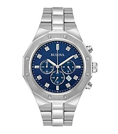 Bulova® Marine Star Chronograph In Stainless Steel Watch With Diamond Accents