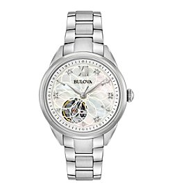 Bulova® Women's Automatic Stainless Steel Hand Set Diamond Watch