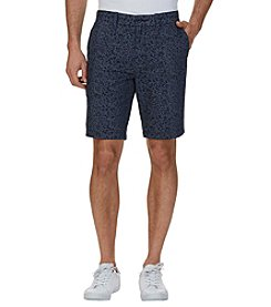 Nautica® Men's Slim Fit Leaf Print Flat Front Shorts