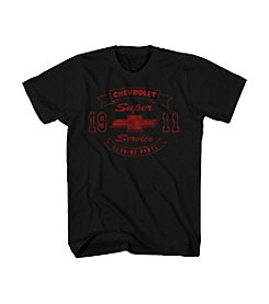Mad Engine Men's Big & Tall Chevy Bow Tie Banner Tee