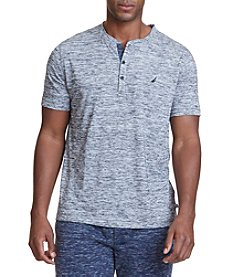 Nautica® Men's Short Sleeve Space Dye Henley