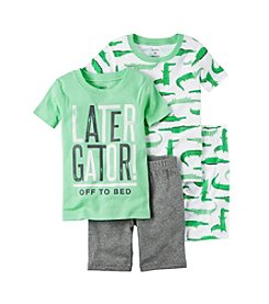 Carter's® Boys' 5-12 Later Gator 4-Piece Shirt And Bottom Set