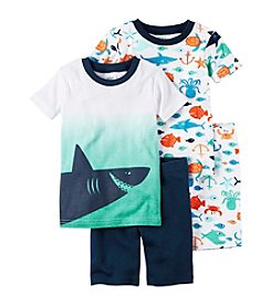 Carter's® Boys' 5-12 Ombre Shark 4-Piece Pajama Set
