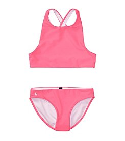Polo Ralph Lauren® Girls' 7-16 Solid 2-Piece Swimsuit
