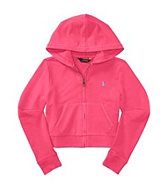 Polo Ralph Lauren® Girls' 7-10 Terry Zip Up Hoody