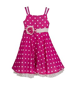 Rare Editions® Girls' 4-6X Magenta Chiffon Polka Dot Dress