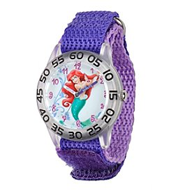 Disney® Ariel Girls' Plastic Time Teacher Watch