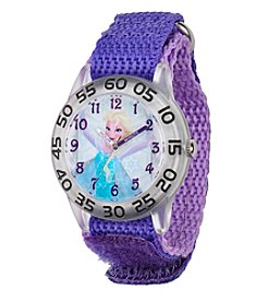 Disney® Frozen Elsa Girl's Plastic Time Teacher Watch