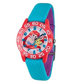Disney® Princess Ariel Girls' Red Plastic Time Teacher Watch