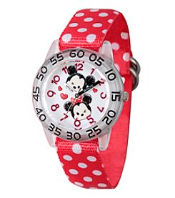 Disney® Mickey Mouse® and Minnie Mouse® Girls' Time Teacher Watch