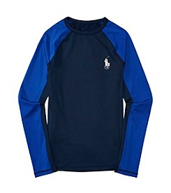 Polo Ralph Lauren® Boys' 8-20 Long Sleeve Rashguard Swim Coverup
