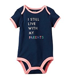 Carter's® Baby Girls' I Live With My Parents Romper