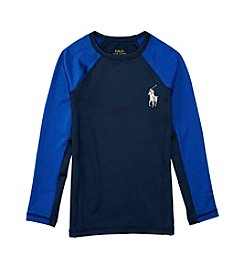 Polo Ralph Lauren Boys' 2T-7 Long Sleeve Rashguard Swim Coverup
