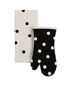 kate spade new york® Polka Dot Towel And Oven Mitt Gift Set