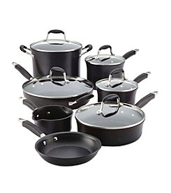 Anolon® Onyx 12-Pc. Hard-Anodized Cookware Set +FREE BONUS GIFT see offer details