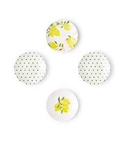 kate spade new york® Lemon Tidbit Plate Set
