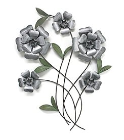 Fetco® Metal Wall Art Flowers Green Leaves