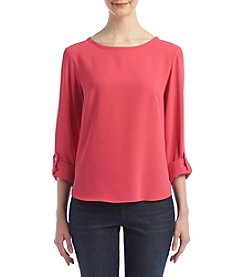 Nine West® Roll Sleeve Top