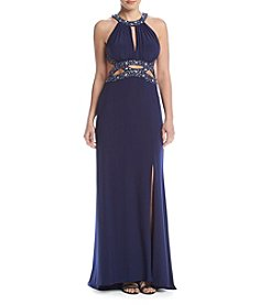 Morgan & Co.® Beaded Cutout Dress