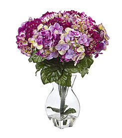 Nearly Natural® Hydrangea with Vase