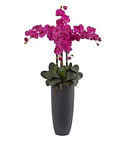 Nearly Natural® Phalaenopsis Orchid Arrangement with Bullet Planter