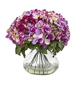 Nearly Natural® Hydrangea with Large Vase