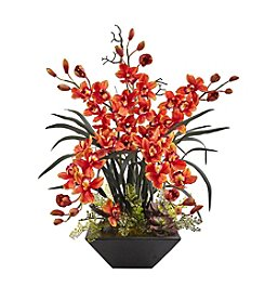 Nearly Natural® Cymbidium Orchid with Vase