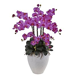 Nearly Natural® Phalaenopsis Orchid with Planter