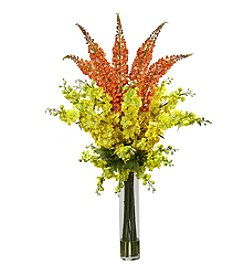 Nearly Natural® Delphinium & Foxtail Silk Floral Arrangement