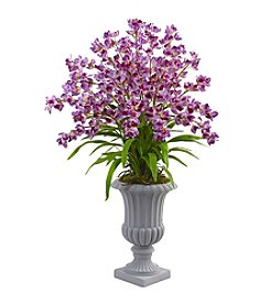 Nearly Natural® Giant Blooming Orchid Arrangement with Urn