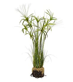 Nearly Natural® Papyrus Plant with Faux Soil