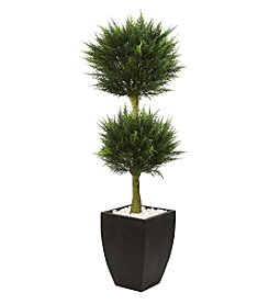 Nearly Natural® 4.5' Cypress Topiary with Planter