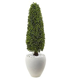 Nearly Natural® Boxwood Topiary with Planter