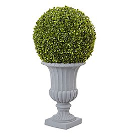 Nearly Natural® 2.5' Boxwood Topiary with Urn