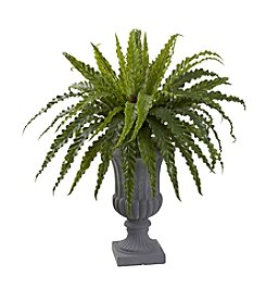 Nearly Natural® Birdsnest Fern with Urn